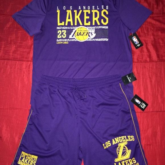LAKERS XL Combo! LeBron T & Lakers Shorts (BNWT)